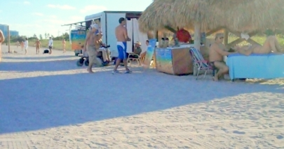 beach stands